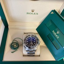 Rolex Steel Automatic Blue No numerals 44mm new Sea-Dweller Deepsea