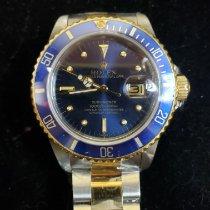 Rolex Submariner Date Acero y oro 40mm Azul Sin cifras