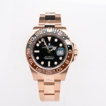 Rolex GMT-Master II Or rose 40mm Noir Sans chiffres