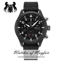 万国 Pilot Chronograph Top Gun 陶瓷 44.5mm 黑色