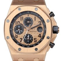 Audemars Piguet Royal Oak Offshore Chronograph Růžové zlato 42mm Zlatá Arabské