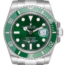 Rolex Submariner Date Stål 40mm Grön