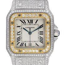 Cartier Santos Galbée neu 2020 Quarz Nur Uhr W20011C4