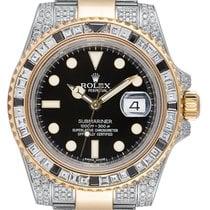 Rolex Submariner Date Or/Acier 40mm Noir