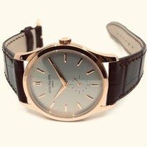 Patek Philippe Calatrava Rose gold 37mm Silver No numerals