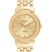 Rolex Cellini Gelbgold 33mm Champagnerfarben