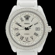 Versace Ceramic Automatic Mother of pearl Roman numerals 41mm pre-owned