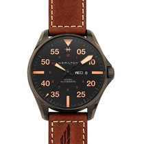 Hamilton H64705531 Acier Khaki Pilot Day Date 46mm nouveau