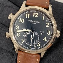 Patek Philippe Travel Time Белое золото 42mm Синий Aрабские