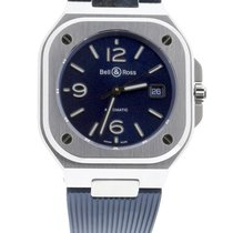 Bell & Ross BR 05 pre-owned 40mm Blue Date Rubber