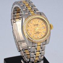 Tudor Glamour Date 8050 Muito bom Ouro/Aço 28mm Automático
