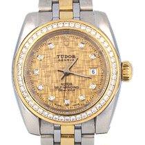 Tudor Glamour Date Acero y oro 28mm Champán Sin cifras