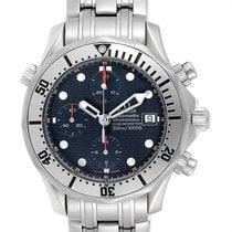Omega Seamaster Diver 300 M occasion 41.5mm Bleu Chronographe Date Acier