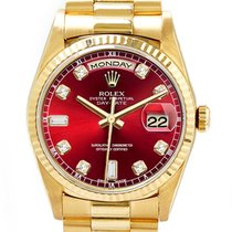 Rolex Day-Date Yellow gold 36mm Red United States of America, California, Glendale