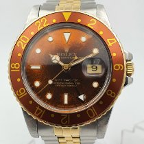 Rolex GMT-Master Aço 40mm Bronze Sem números