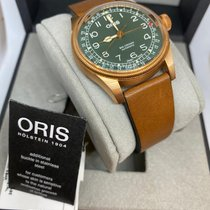 Oris Big Crown Pointer Date Bronze 40mm Vert Arabes