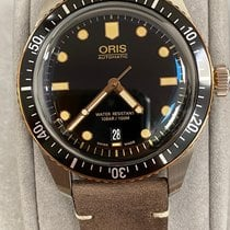 Oris Steel Automatic Black No numerals 40mm new Divers Sixty Five