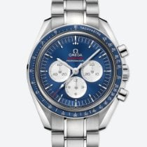 Omega Speedmaster Acier 42mm Bleu