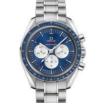 Omega Speedmaster Steel 42mm Blue
