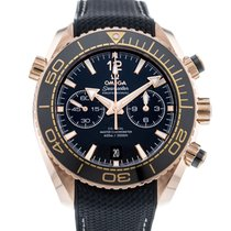 Omega Or rose Remontage automatique Noir 45.5mm occasion Seamaster Planet Ocean Chronograph