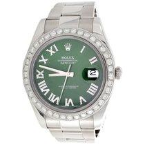 Rolex Datejust II Acero 41mm Verde Romanos