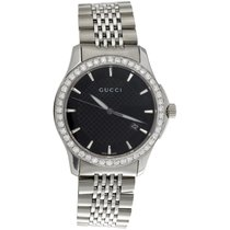 Gucci G-Timeless Acero 38mm Negro