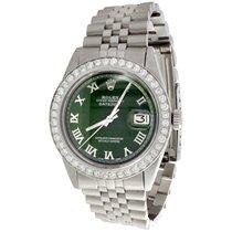 Rolex Datejust Steel 36mm Green Roman numerals