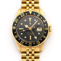 Rolex GMT-Master pre-owned 40mm Black GMT Yellow gold