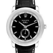 Rolex Platinum Manual winding Black 35mm pre-owned Cellini
