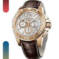 Longines Rose gold Automatic White Arabic numerals 45mm new HydroConquest