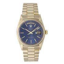 Rolex Day-Date 36 подержанные 36mm Синий Дата Желтое золото