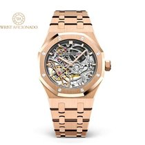 Audemars Piguet Royal Oak Double Balance Wheel Openworked Or rose 37mm Transparent Sans chiffres