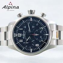 Alpina Startimer Pilot Stahl 42mm Blau Keine Ziffern