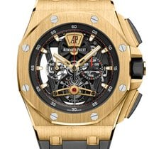 Audemars Piguet Royal Oak Offshore Tourbillon Chronograph Oro amarillo 44mm Transparente