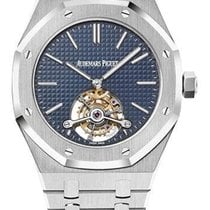 Audemars Piguet Royal Oak Tourbillon Steel 41mm Blue No numerals United States of America, New York, NEW YORK