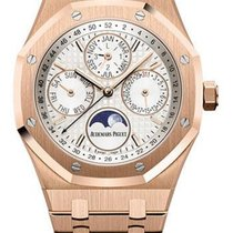 Audemars Piguet Royal Oak Perpetual Calendar Rose gold 41mm Silver No numerals United States of America, New York, NEW YORK