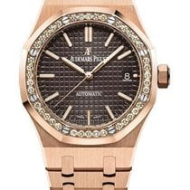Audemars Piguet Royal Oak Lady Rose gold 37mm Brown No numerals United States of America, New York, NEW YORK