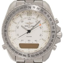 Breitling Pluton Staal 41mm Wit