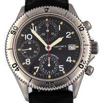 Eterna Matic Steel 42mm Black Arabic numerals