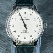 Meistersinger N° 03 Steel 43mm Champagne Arabic numerals