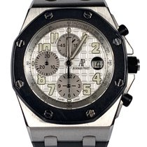 Audemars Piguet Royal Oak Offshore Chronograph Stål 42mm Hvid Arabertal