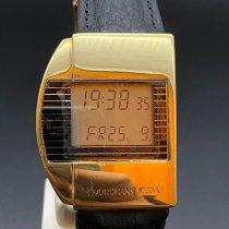 Junghans Gelbgold Quarz Schwarz Arabisch 33,5mm gebraucht