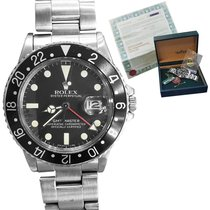 Rolex Steel Automatic Black 40mm pre-owned GMT-Master