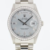 Rolex Day-Date 36 Platinum 36mm Blue United States of America, Florida, Boca Raton