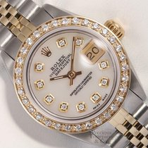 Rolex Steel Automatic Mother of pearl 26mm pre-owned Lady-Datejust