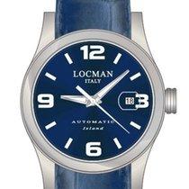 Locman Tremila Steel 40mm Blue Arabic numerals