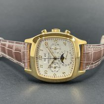Patek Philippe Perpetual Calendar Chronograph Yellow gold 37mm Silver