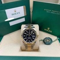 Rolex Sky-Dweller Gold/Steel 42mm Black No numerals United States of America, New York, New York