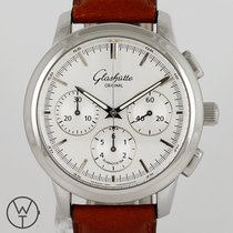 Glashütte Original Senator Chronograph pre-owned 40mm Crocodile skin