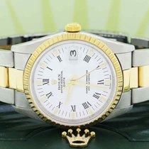 Rolex Oyster Perpetual Date Stahl 34mm Weiß Römisch